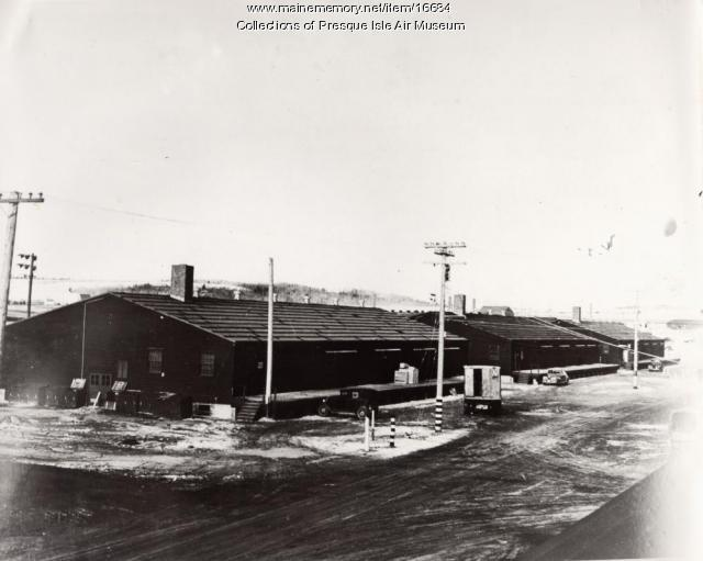 Air Base warehouses, Presque Isle, ca. 1943