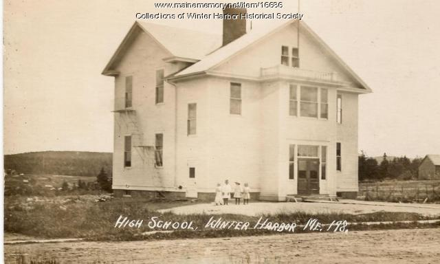 Winter Harbor High School, ca. 1915