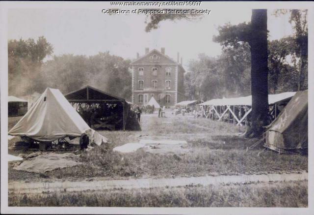 Troops, Bowdoin College, Brunswick, 1917