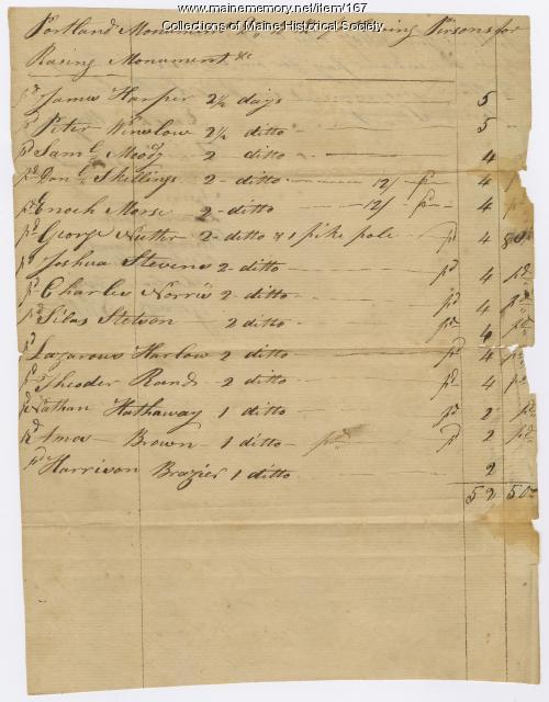 Raising of the Portland Monument, 1807