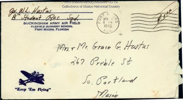 Walter Hustus letter from gunnery school, 1943