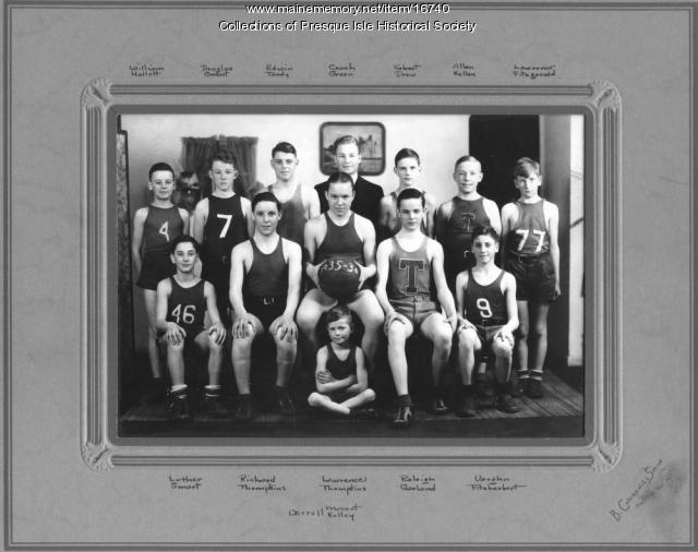 Training School Basketball Team, Presque Isle, ca. 1936.