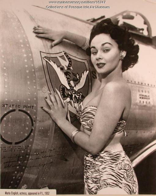 Actress Marla English, Presque Isle Air Force Base, 1952
