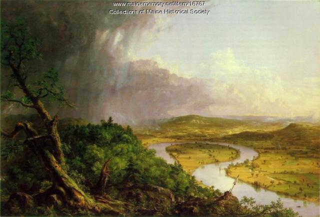View from Mount Holyoke, Northampton, MA, after a Thunderstorm (The Oxbow)