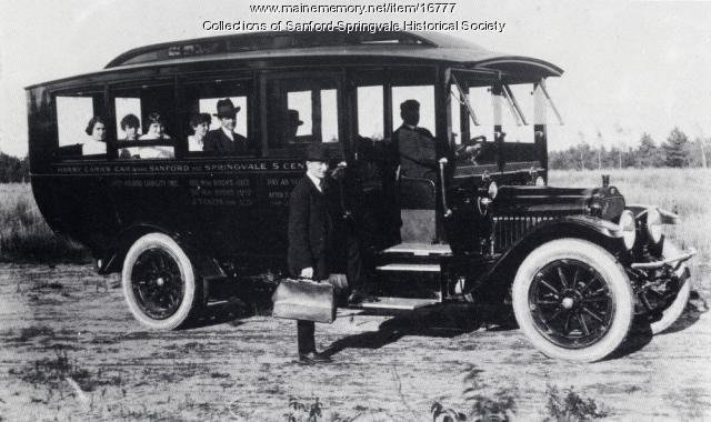 Harry Carr's Second Jitney, Sanford, ca 1914