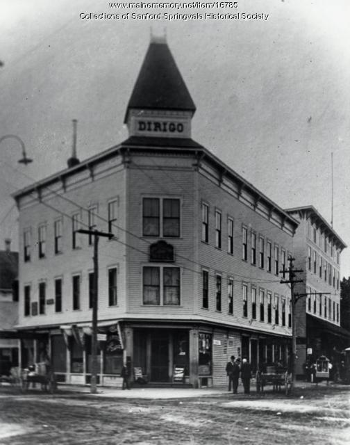 Dirigo Block, Springvale, ca 1900