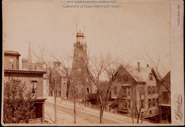 Portland Observatory, Munjoy Hill, ca. 1910