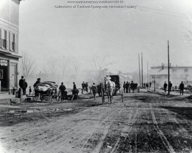 Main Street, Springvale, Following the 1905 Fire
