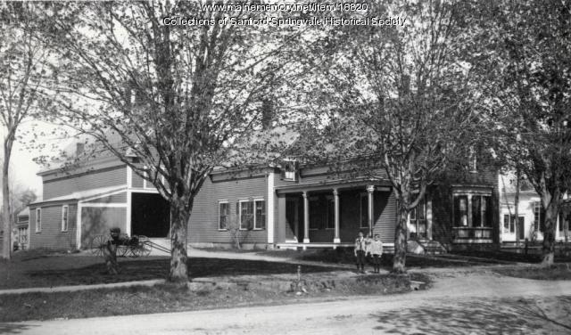Home of Dr. Fred A. Bragdon, Main Street, Springvale, ca 1900
