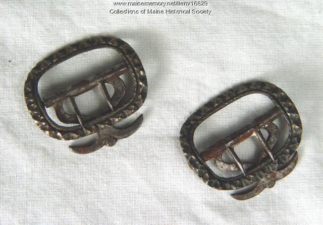Samuel Freeman's knee buckles, ca. 1790