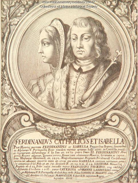 King Ferdinand and Queen Isabella, 1492