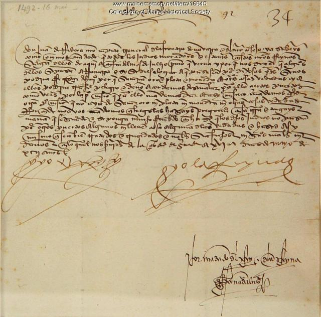 """letter to ferdinand and isabella from columbus This he wrote in a letter to ferdinand and isabella again he says, """"i went to sea  from the most tender age and have continued in a sea life to this day whoever."""