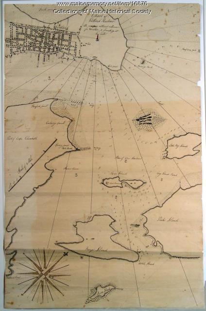 Portland Harbor chart, ca. 1825