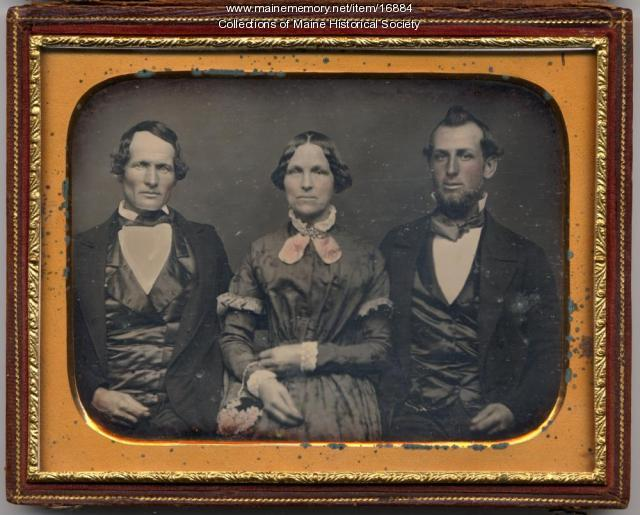 John, Esther and William Weeks, Portland, ca. 1850
