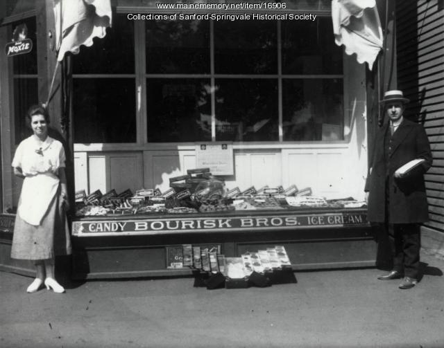 Bourisk Bros. Candy and Ice Cream Shop, Sanford, ca 1915