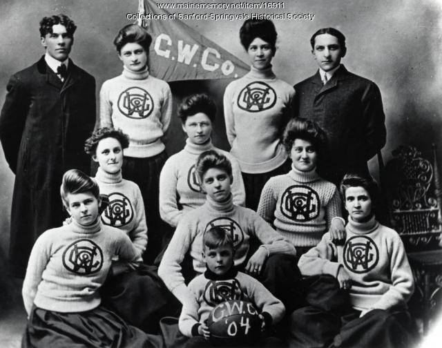 Goodall girls' basketball team, Sanford, 1904