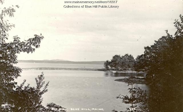 View of the causeway, Blue Hill Bay