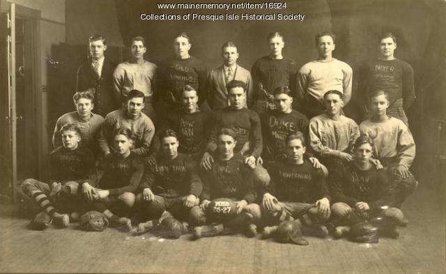 Presque Isle High School Football Team, ca. 1926