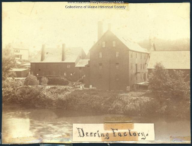Deering Factory, Portland, ca. 1870