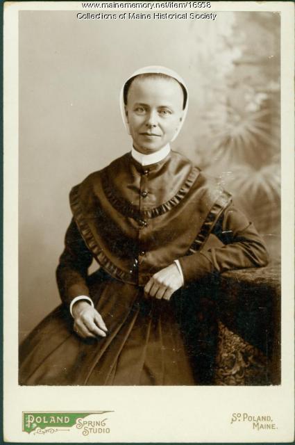 Elizabeth Haskell, Sabbathday Lake, ca. 1900