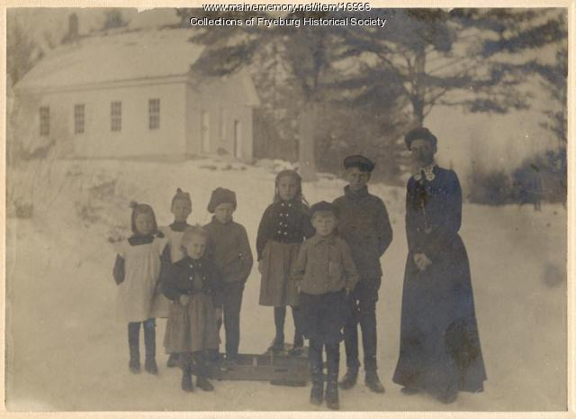 Teacher and Children at Fryeburg Center School