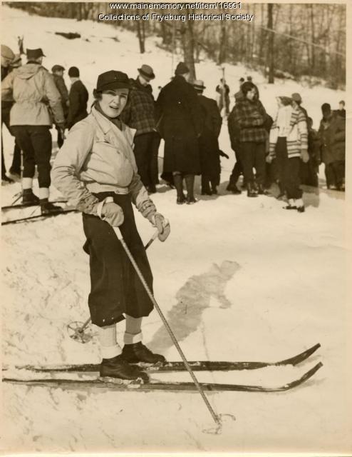 Skiier at Jockey Cap, Fryeburg, ca. 1936