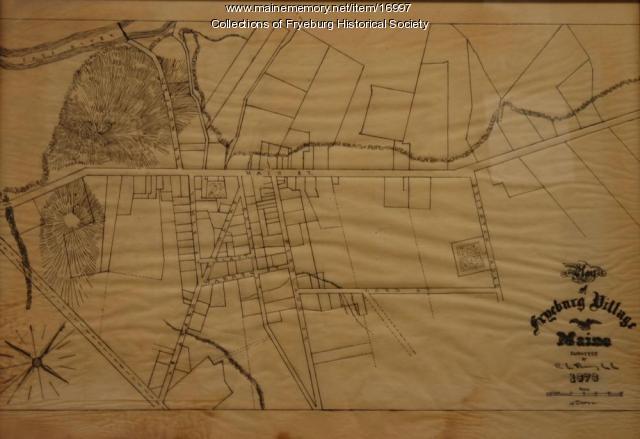 Map of Fryeburg Village in 1878