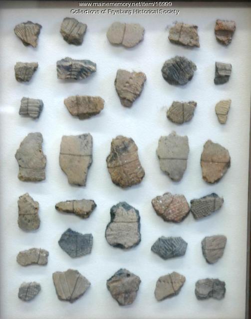 Pottery sherds, Fryeburg, ca. 1000