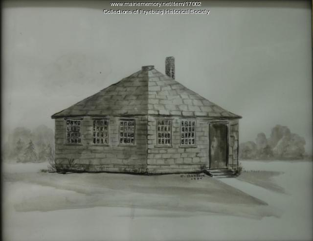 Fryeburg Academy as it looked in 1800