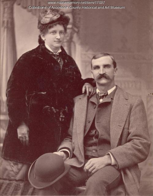 Carrie and Walter Mansur, Houlton, ca. 1880