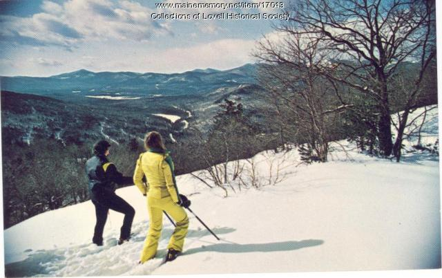 Promotional postcard, Evergreen Valley Resort, Stoneham, ca. 1970