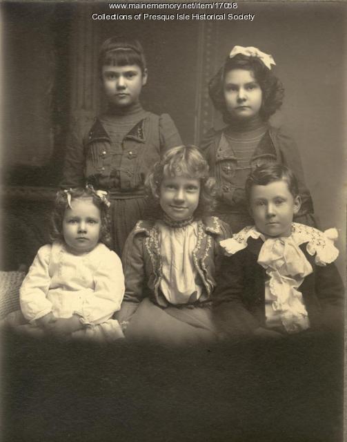 Mary Mallory Maynard's Children, Presque Isle, ca. 1920