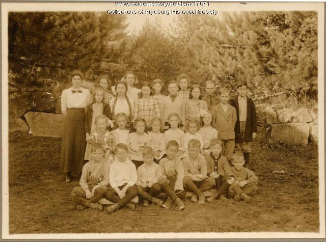 West Fryeburg School Children, 1913
