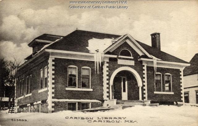 Caribou Public Library, ca. 1912