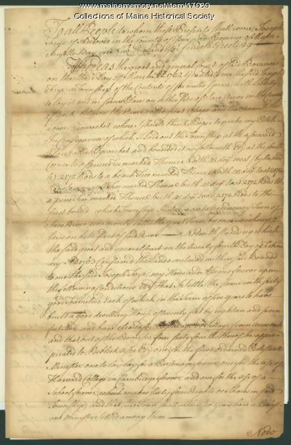 Joseph Frye deed to Andrew McMillan, 1763