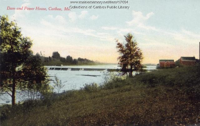 Power Dam on Aroostook River, Caribou, ca. 1920