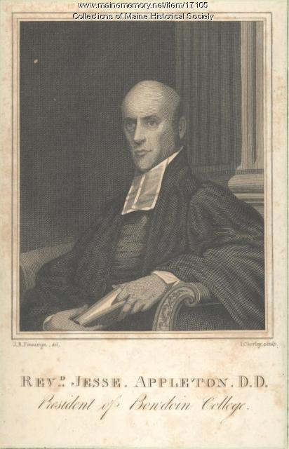 Engraving of Jesse Appleton, Brunswick