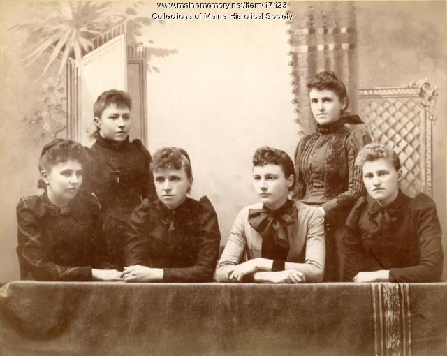 Harpswell women, ca. 1880