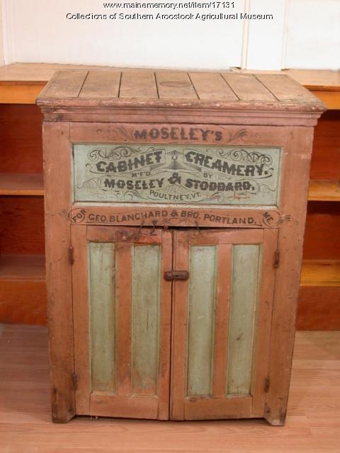 Creamery cabinet, ca. 1900
