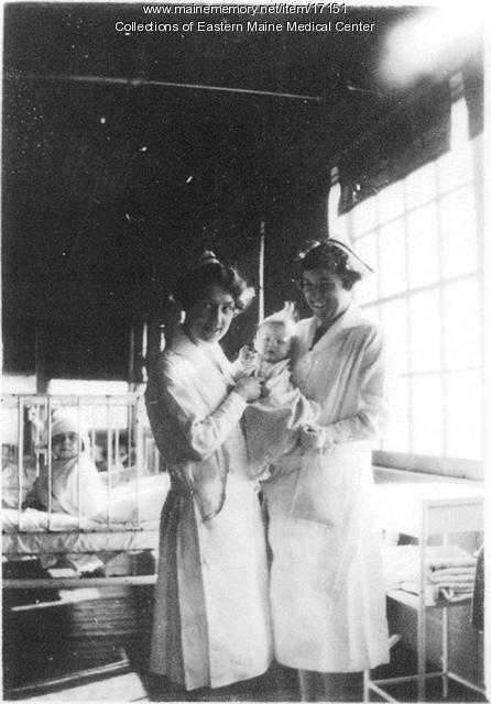 Nurses, Eastern Maine General Hospital, ca. 1920