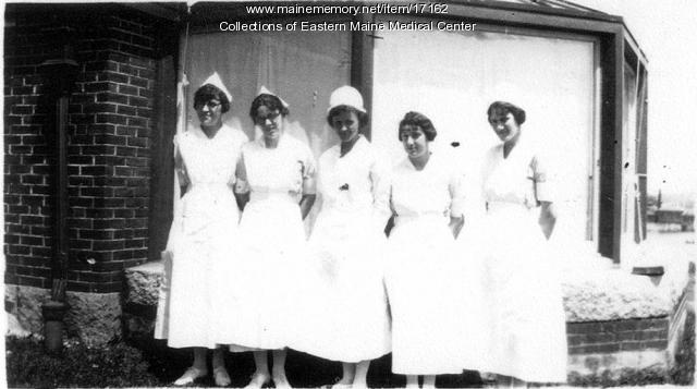 1920s Nurses at Eastern Maine General Hospital
