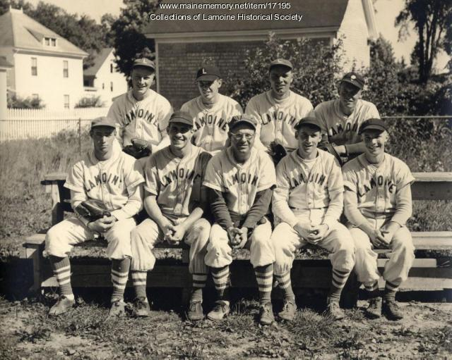 Lamoine Baseball Team, 1952