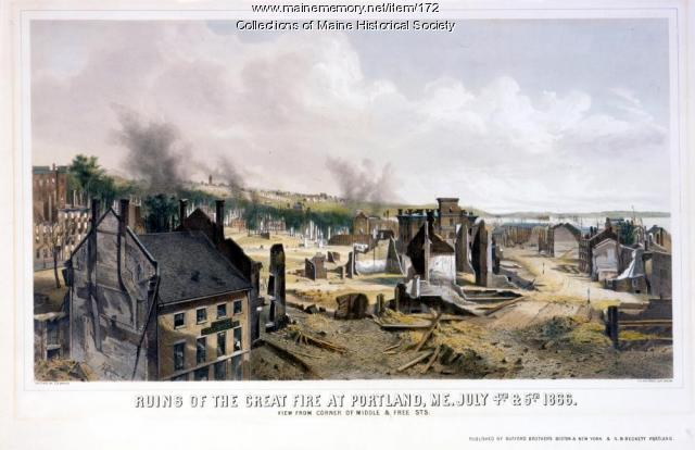 Ruins from Portland fire, July 1866
