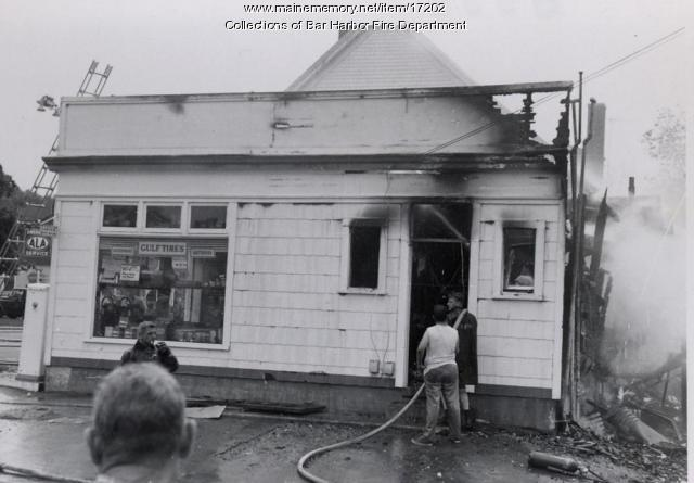 Fire, Bar Harbor, ca. 1960