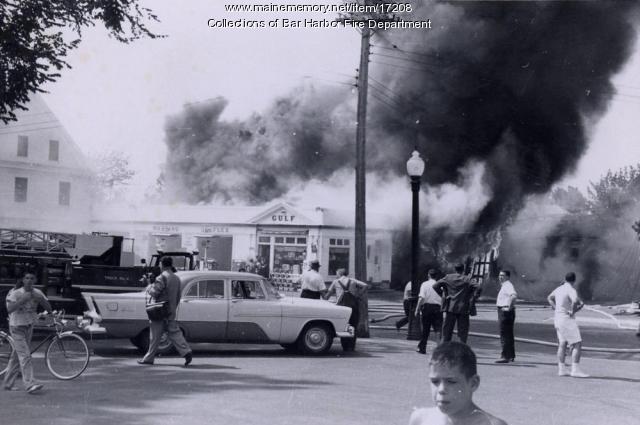 Fire in Bar Harbor, ca. 1960