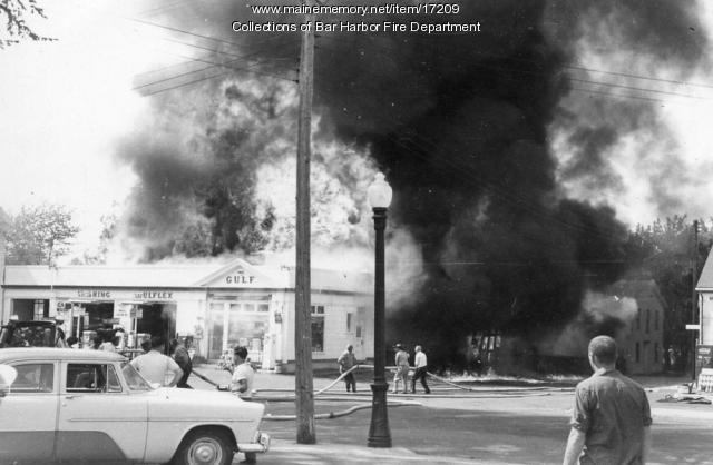 Cottage Street, Bar Harbor, ca. 1960