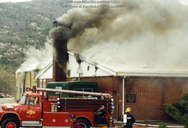Maine Memory Network Jackson Laboratory Fire Bar Harbor