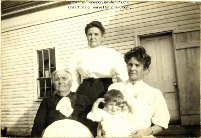 Four generations, Harpswell, 1903