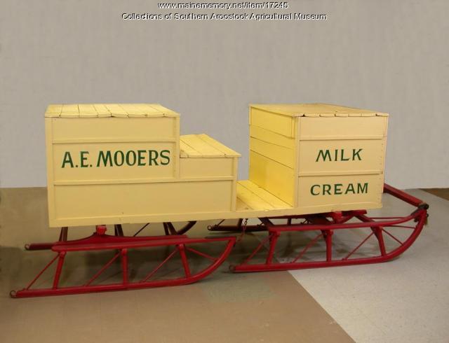 Mooers Dairy Sled, Houlton, c. 1900
