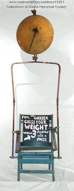 Chair and scale belonging to Dave the Guesser